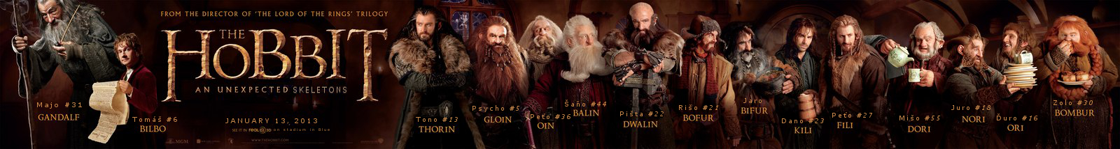 The Hobbit: An Unexpected Skeletons Dwarves